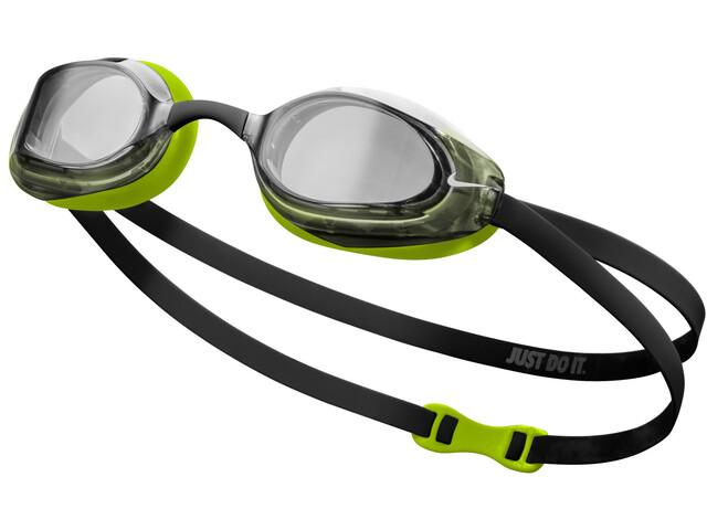 Nike Swim Vapor Gogle, czarny/żółty